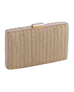 Bolsa de mão clutch de palha gold Yoko