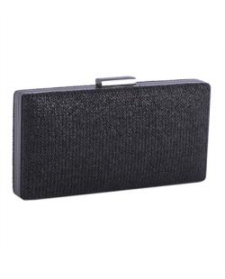 Bolsa de mão clutch de palha black Yumi
