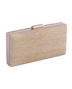 Bolsa de mão clutch de palha beige Yumi