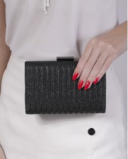 Bolsa de mão clutch de palha black Yanka