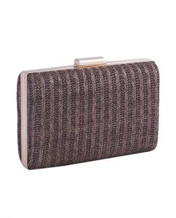 Bolsa de mão clutch de palha brown Yanka