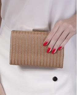 Bolsa de mão clutch de palha bronze Yanka