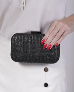 Bolsa de mão clutch de palha black Yrys