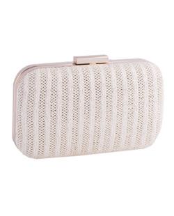 Bolsa de mão clutch de palha white Yris