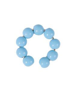 Piercing fake dourado com pedra azul Serena