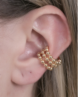 Piercing fake dourado triplo Carlotta