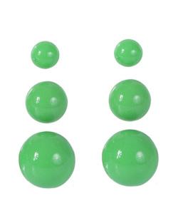 Kit 3 pares de brincos de acrílico verde limão Anne