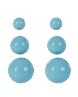 Kit 3 pares de brincos de acrílico azul Anne