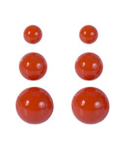 Kit 3 pares de brincos de acrílico laranja Anne
