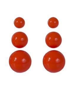 Kit 3 pares de brincos de acrílico laranja neon Anne
