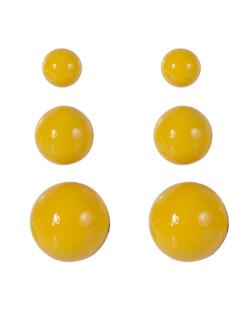 Kit 3 pares de brincos de acrílico amarelo Anne