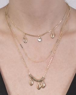 Kit 3 colares dourado Marmo