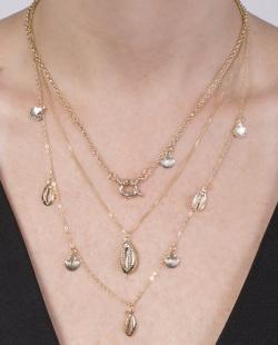 Kit 3 colares dourado Piccolo