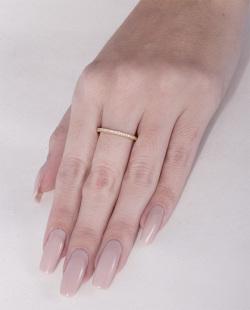 Anel dourado com strass cristal Helô