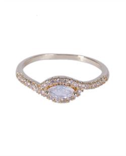 Anel dourado com strass cristal Marisa