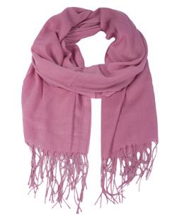 Lenço de poliéster rosa Heloísa
