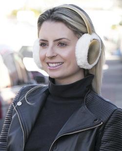 Protetor de orelhas de pelúcia off white Enny