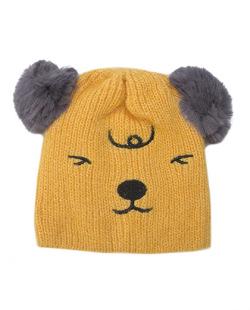 Gorro de tricô infantil amarelo Ury