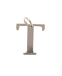 Pingente dourado letra T