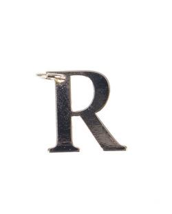Pingente dourado letra R