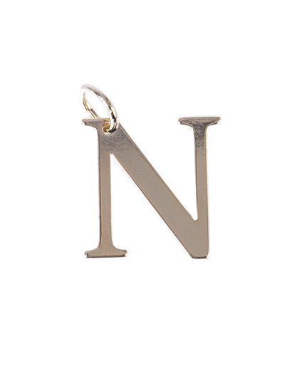 Pingente dourado letra N