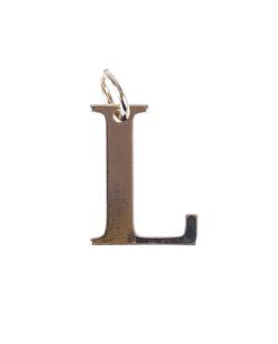 Pingente dourado letra L