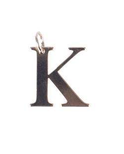 Pingente dourado letra K