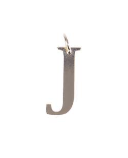 Pingente dourado letra J