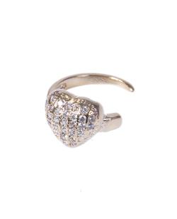 Piercing fake dourado com strass cristal Love