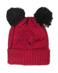 Gorro de tricô vermelho Dakota