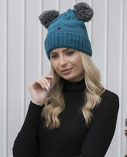 Gorro de tricô azul Dakota