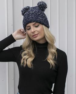 Gorro de tricô azul Maryland
