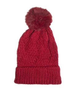Gorro de tricô vermelho Velmont