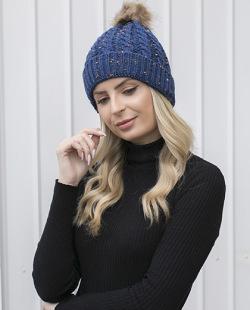 Gorro de tricô azul Geórgia