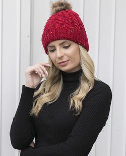 Gorro de tricô vermelho Geórgia