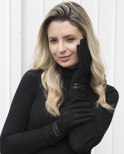 Luva de tecido preto Anne