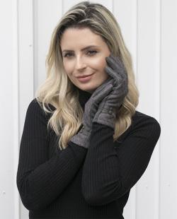Luva de tecido cinza Anne