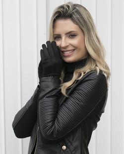 Luva de tecido preto Yasmin