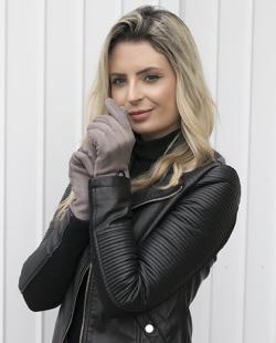 Luva de tecido cinza Yasmin