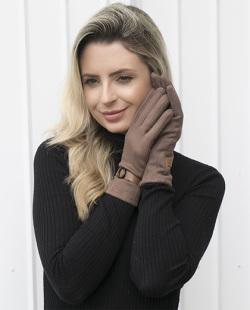 Luva de tecido marrom Yasmin