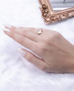 Anel de falange folheado dourado com prata Gekay