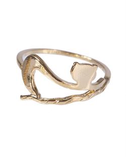 Anel folheado dourado Caterine