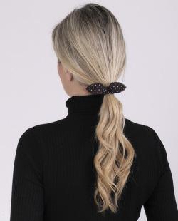 Laço de tecido preto Zaya