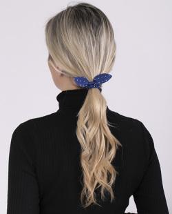 Laço de tecido azul Zaya