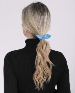 Laço de tecido azul claro Zaya