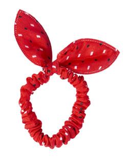Laço de tecido vermelho Zaya