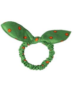 Laço de tecido poá verde Cathy
