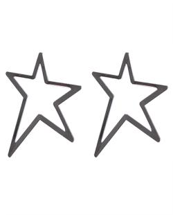 Brinco prateado Estrelar