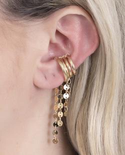 Kit 4 piercing fake dourado Bella
