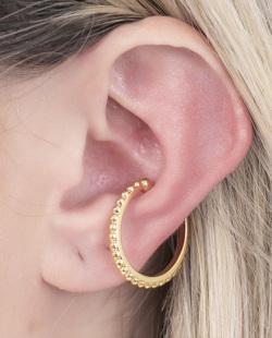 Piercing fake dourado Uker